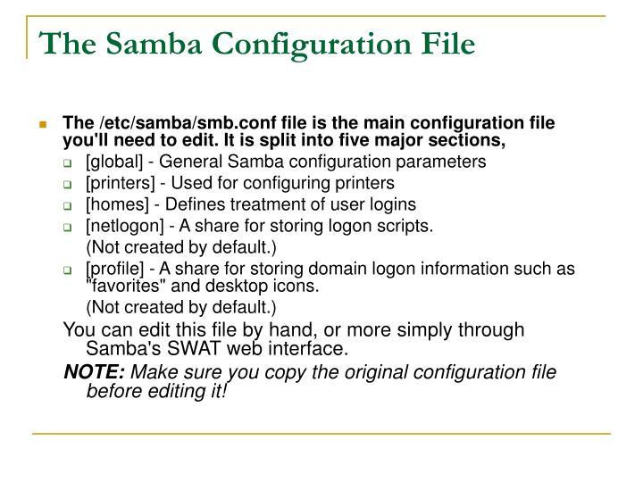 The Samba Configuration File