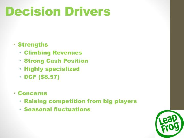 Decision Drivers