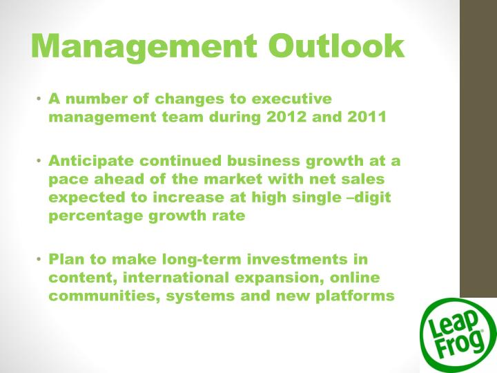 Management Outlook