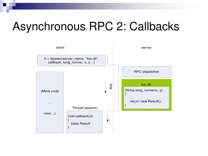 Asynchronous RPC 2: Callbacks