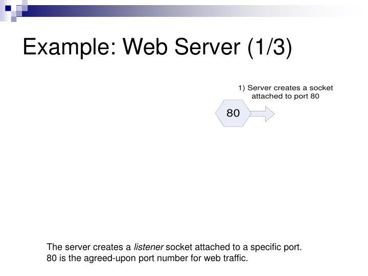 Example: Web Server (1/3)