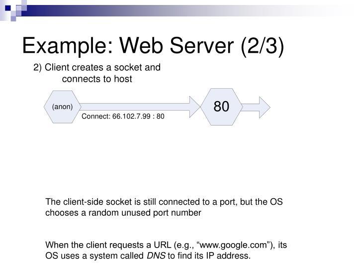 Example: Web Server (2/3)