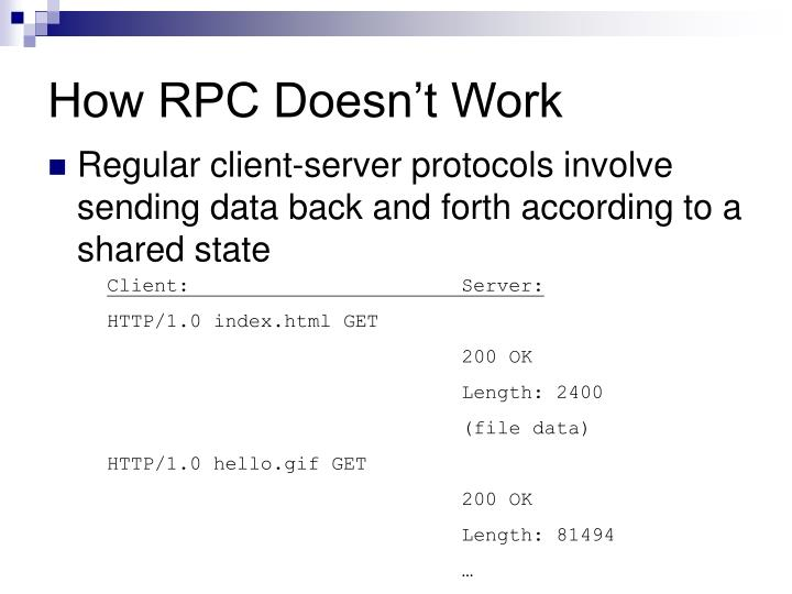 How RPC Doesn't Work