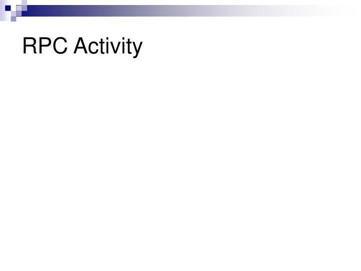 RPC Activity