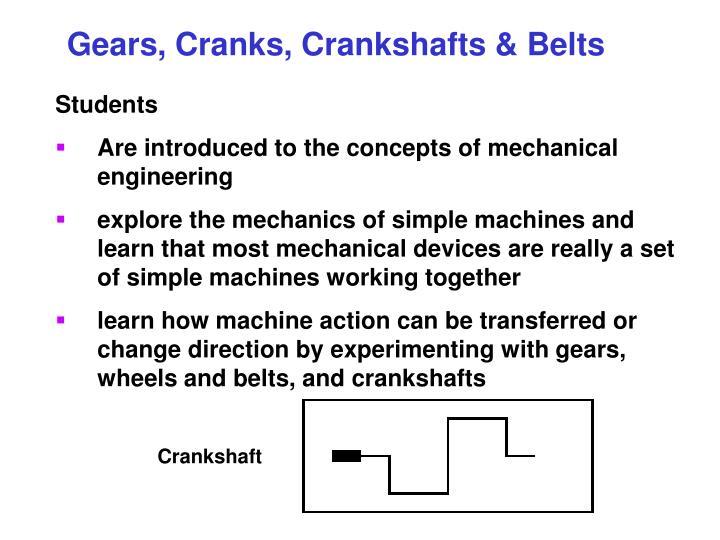 Gears, Cranks, Crankshafts & Belts