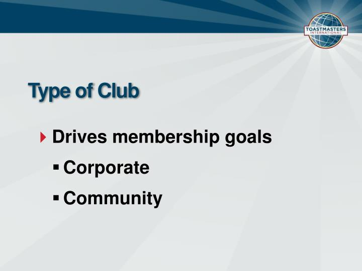 Type of Club