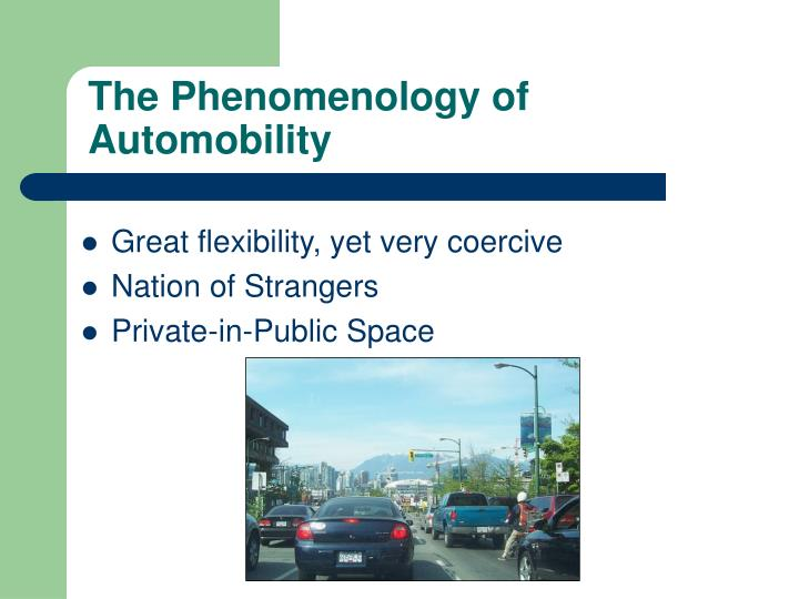 The Phenomenology of Automobility