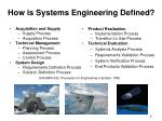 how is systems engineering defined