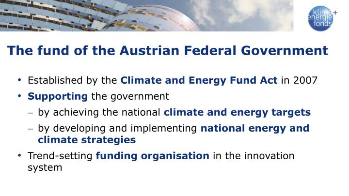 The fund of the Austrian Federal Government