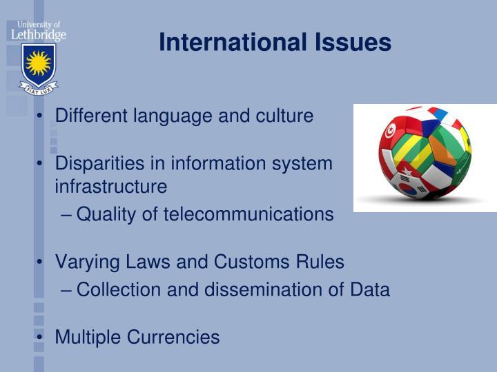 International Issues