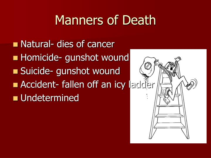 Manners of Death