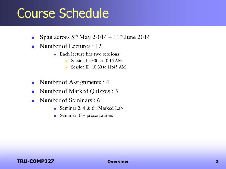 Course Schedule