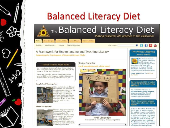 Balanced Literacy Diet
