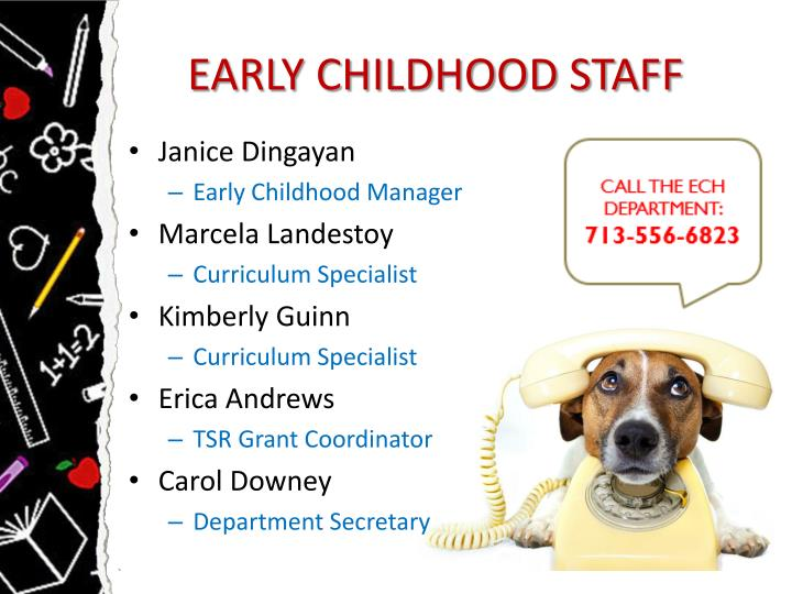 EARLY CHILDHOOD STAFF