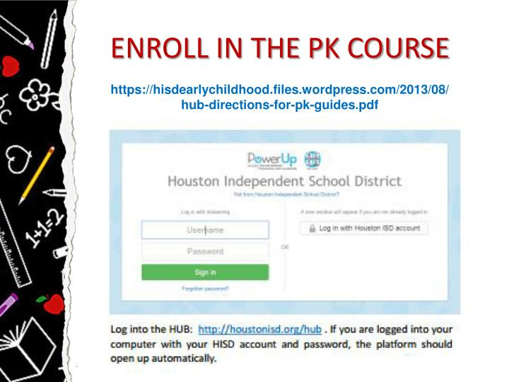 ENROLL IN THE PK COURSE