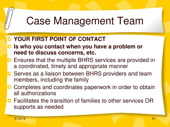Case Management Team