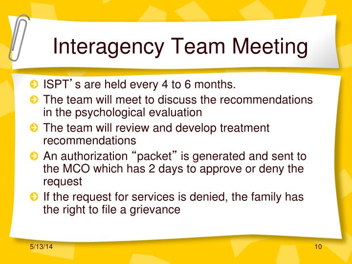 Interagency Team Meeting