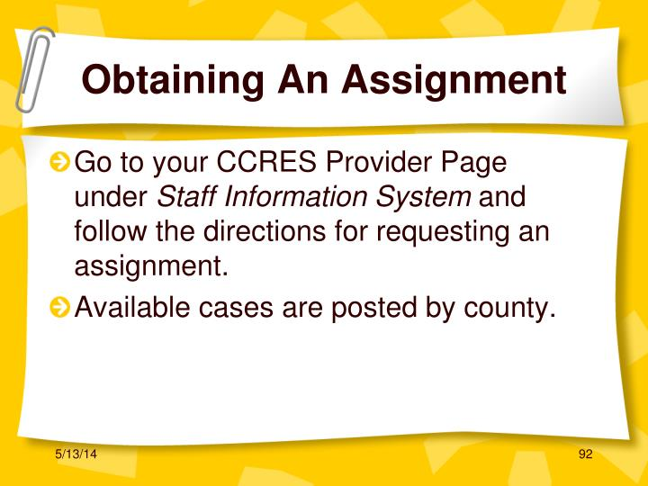 Go to your CCRES Provider Page under