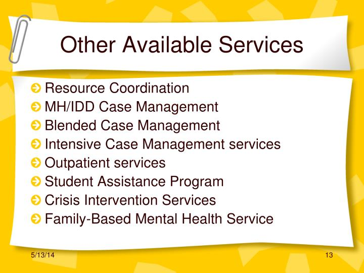 Other Available Services