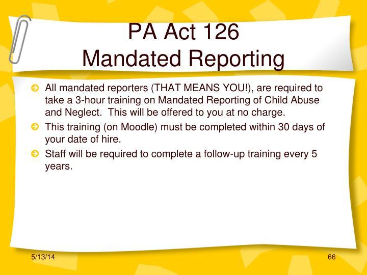 PA Act 126