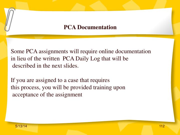 PCA Documentation