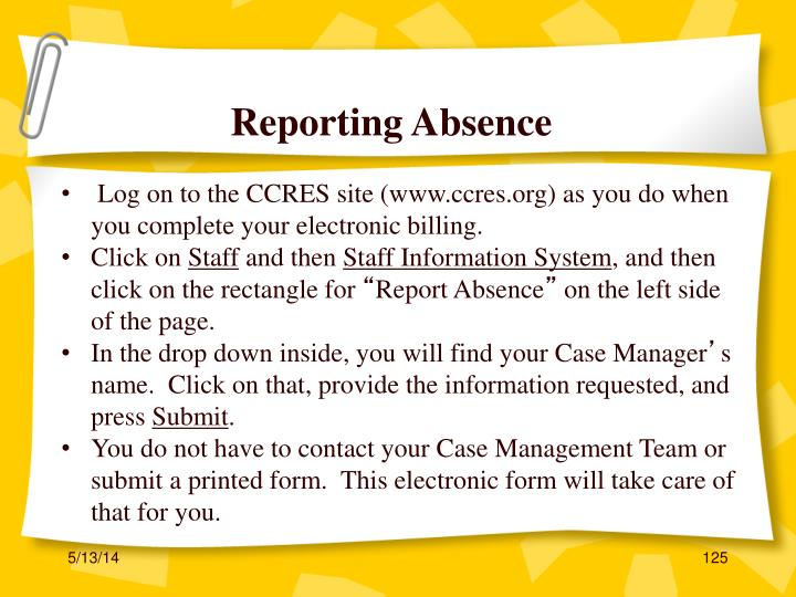 Reporting Absence