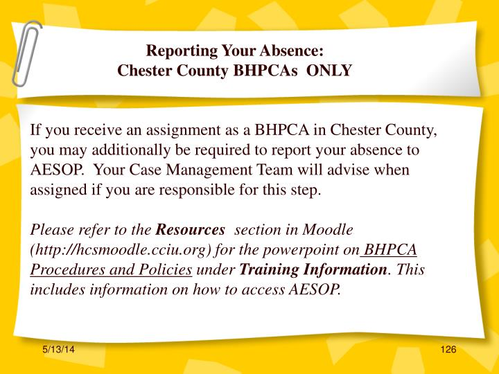 Reporting Your Absence: