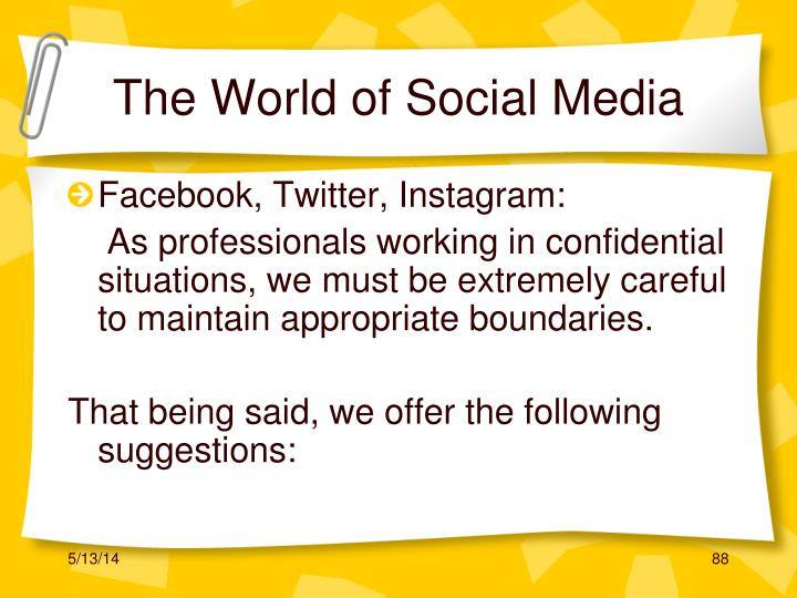 The World of Social Media