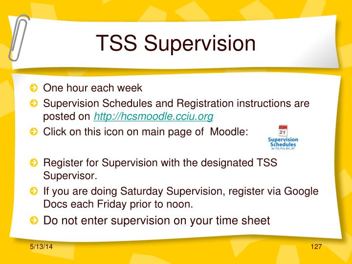 TSS Supervision
