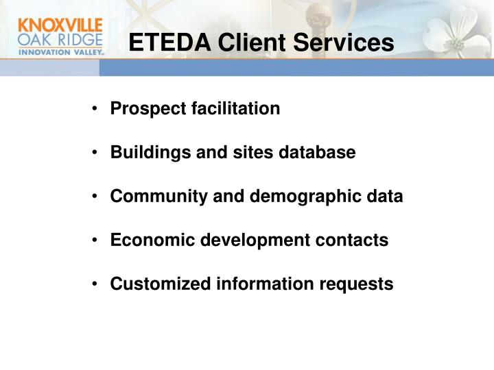 ETEDA Client Services