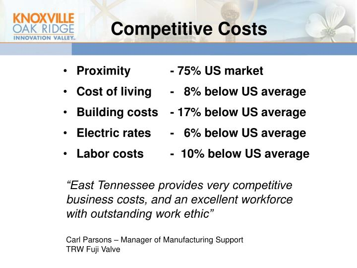 Competitive Costs