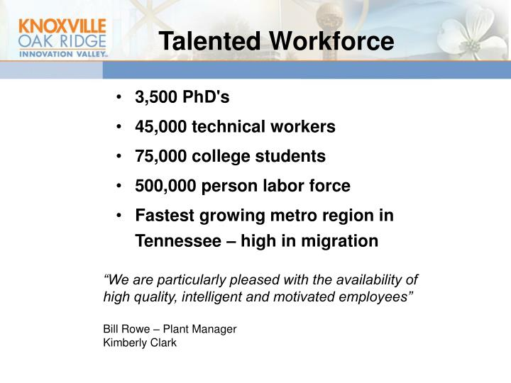 Talented Workforce
