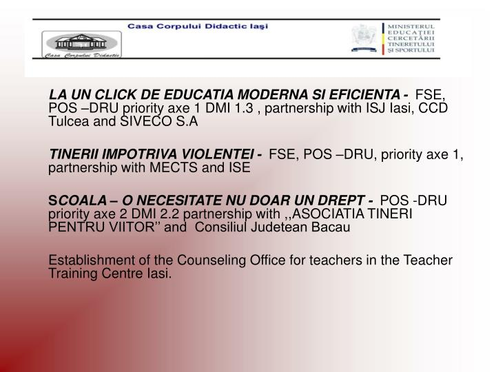 LA UN CLICK DE EDUCATIA MODERNA SI EFICIENTA -