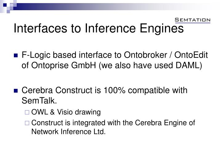 Interfaces to Inference Engines