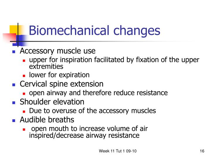 Biomechanical changes