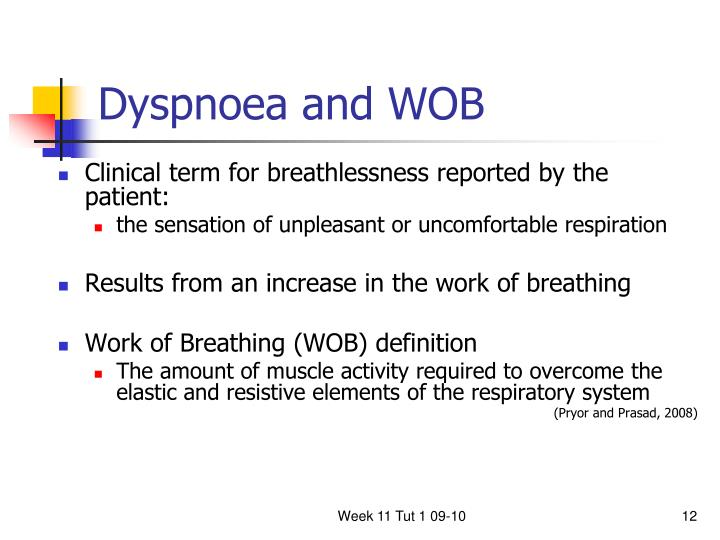 Dyspnoea and WOB