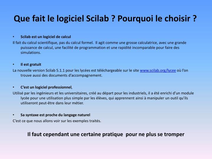 Que fait le logiciel Scilab ? Pourquoi le choisir ?