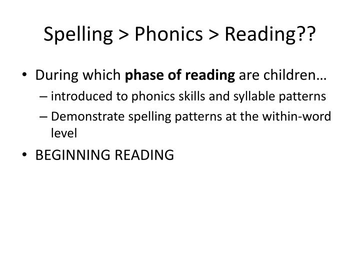 Spelling >