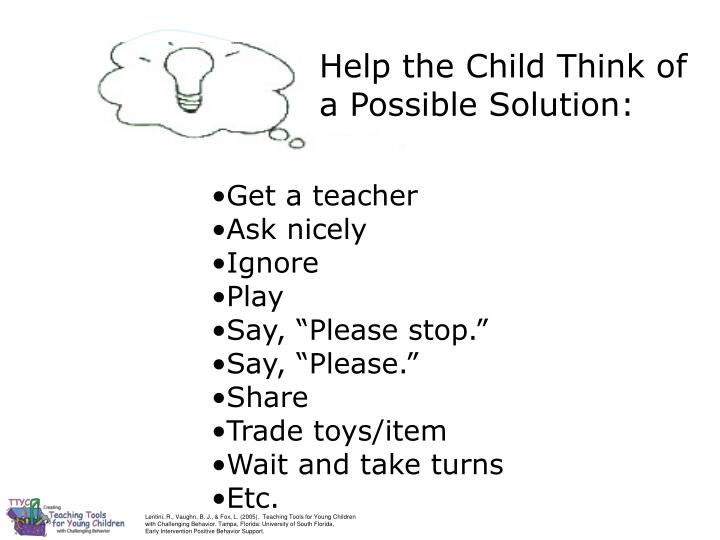 Lentini, R., Vaughn, B. J., & Fox, L. (2005).  Teaching Tools for Young Children