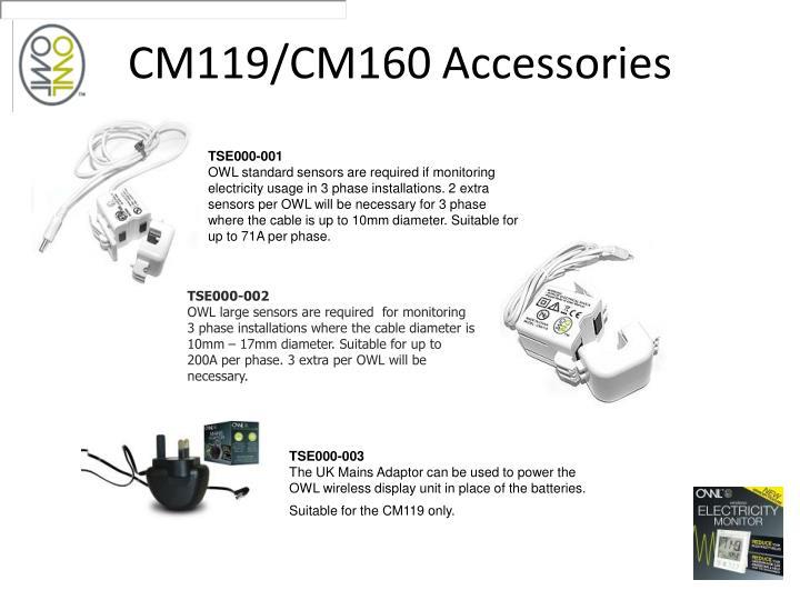 CM119/CM160 Accessories
