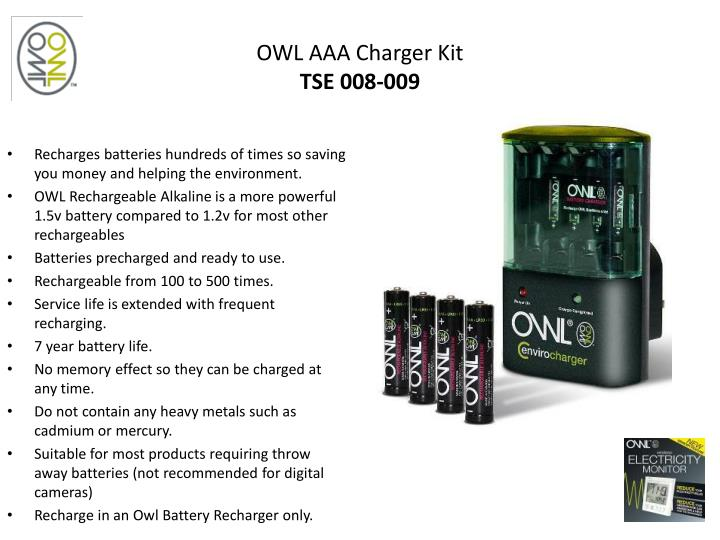 OWL AAA Charger Kit