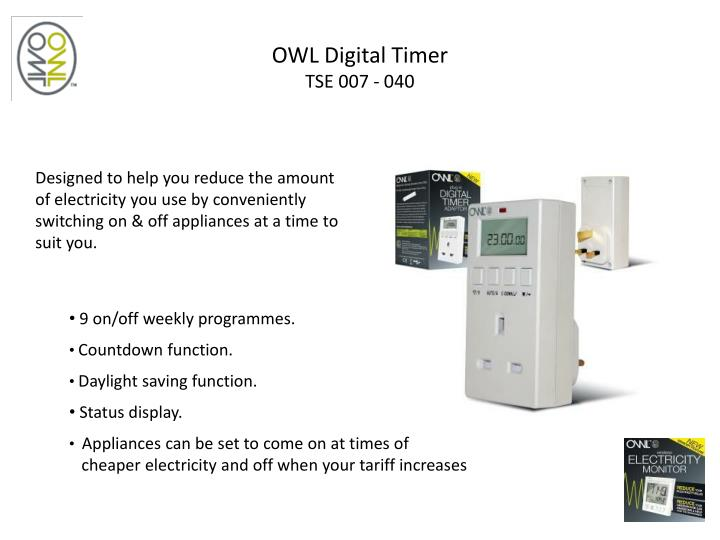 OWL Digital Timer