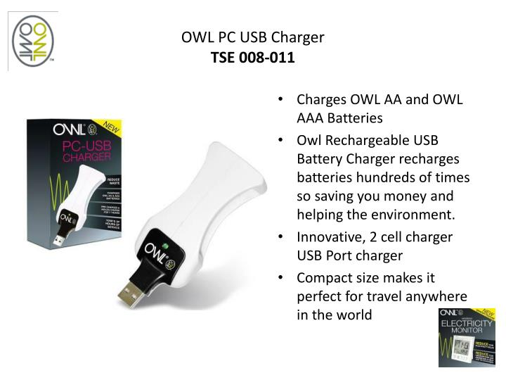 OWL PC USB Charger