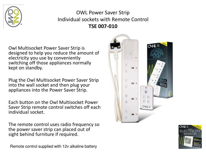 OWL Power Saver Strip