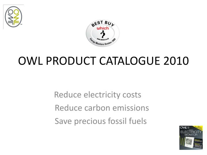 Owl product catalogue 2010