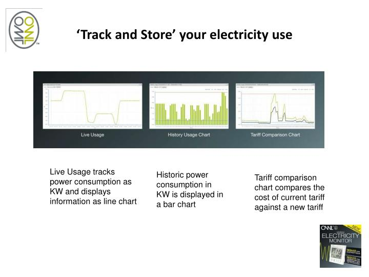 'Track and Store' your electricity use