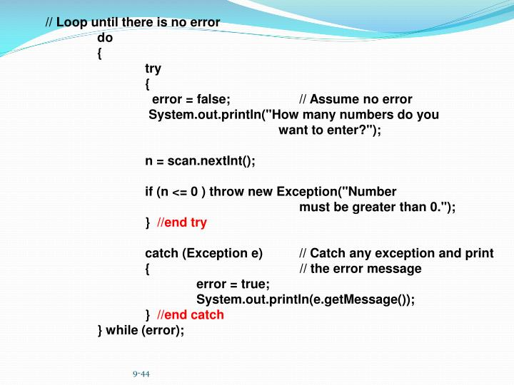 // Loop until there is no error