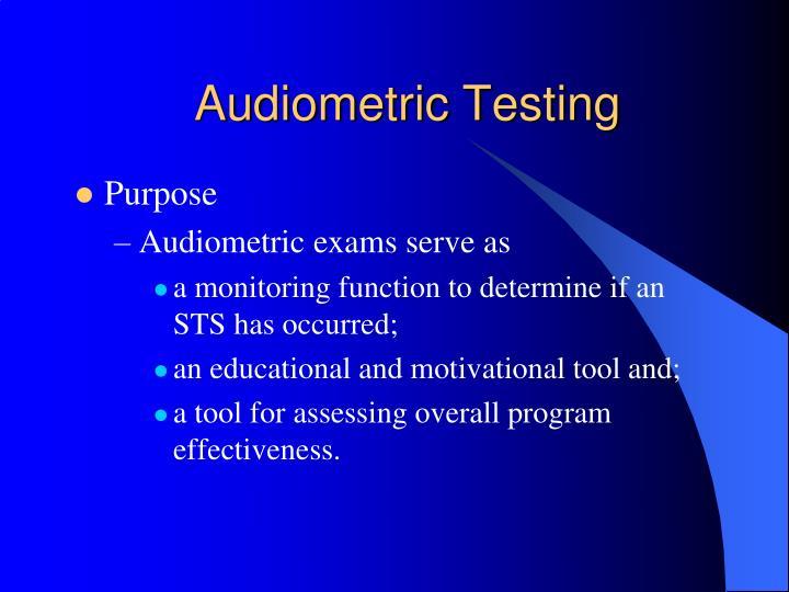Audiometric Testing