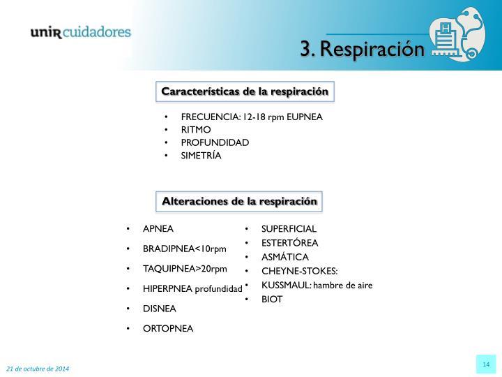 3. Respiración