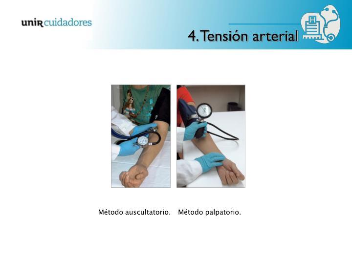 4. Tensión arterial